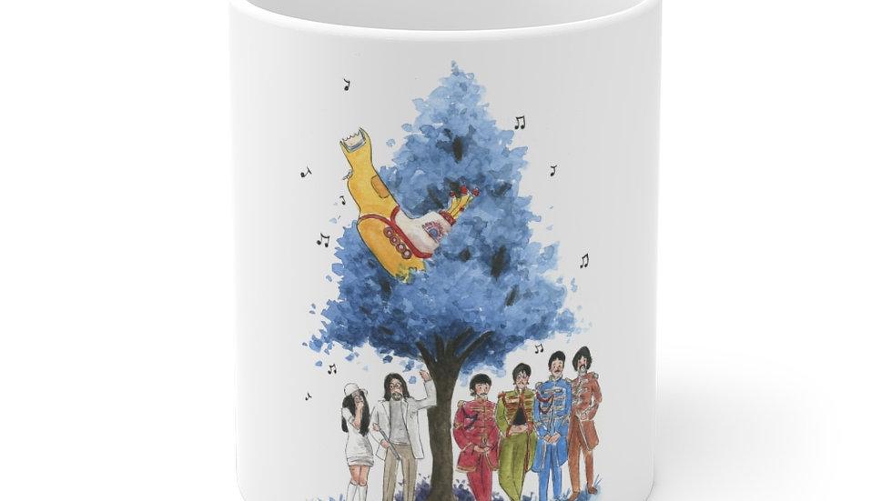 The Beatles Yellow Submarine Watercolor Original Design Ceramic Mug (EU)