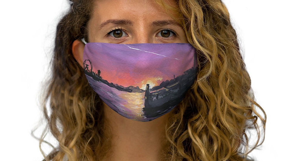 Sunset in London Gouaches Painting Special Edition Snug-Fit Polyester Face Mask