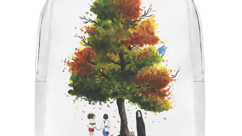 Studio Ghibli Chihiro & Totoro Watercolor Original Design Minimalist Backpack