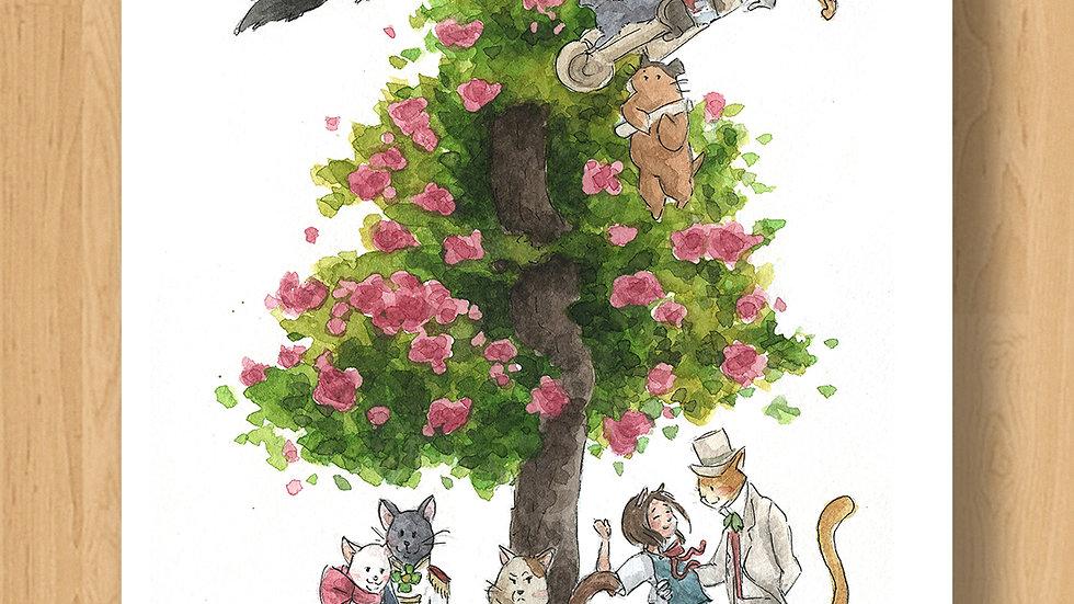 Studio Ghibli Cat's Return Original Design Print