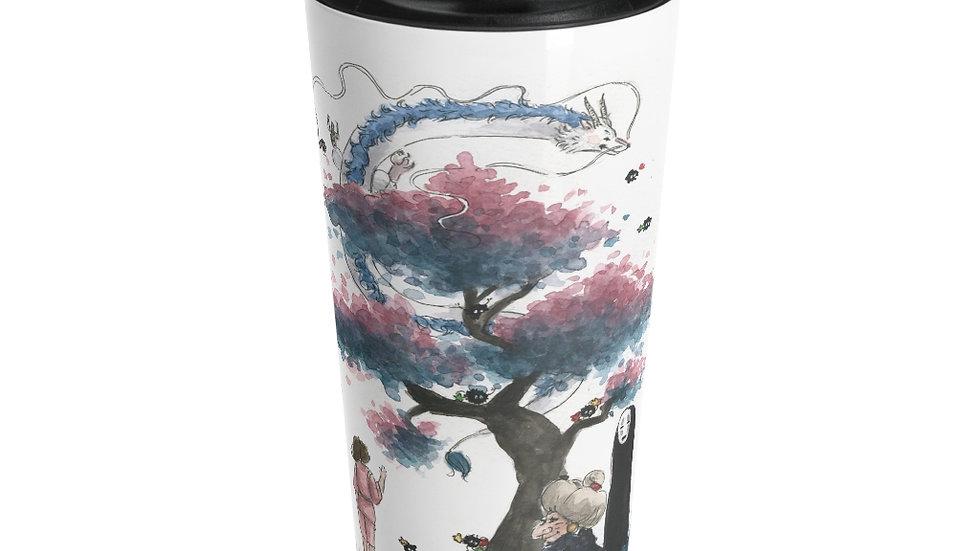 Studio Ghibli Spirited Away Dragon Original Design Stainless Steel Travel Mug