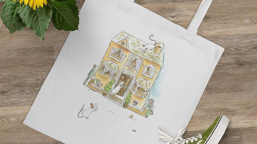 Mice at Home Watercolor Original Design Tote Bag