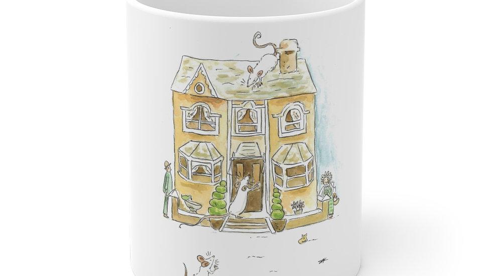 Mice at Home Watercolor Original Design Ceramic Mug (EU)