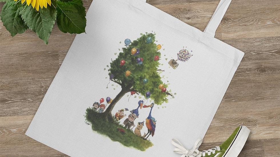 Disney Up Watercolor Original Design Tote Bag