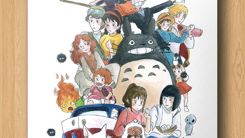 Studio Ghibli Characters Bundle Original Design Print