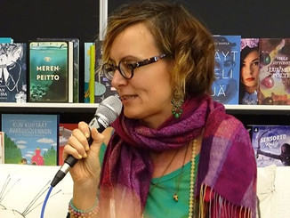 My first ever public interview in Turku Bookfair, October 2019.