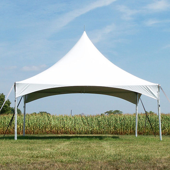 20' x 20' White Pinnacle Tent