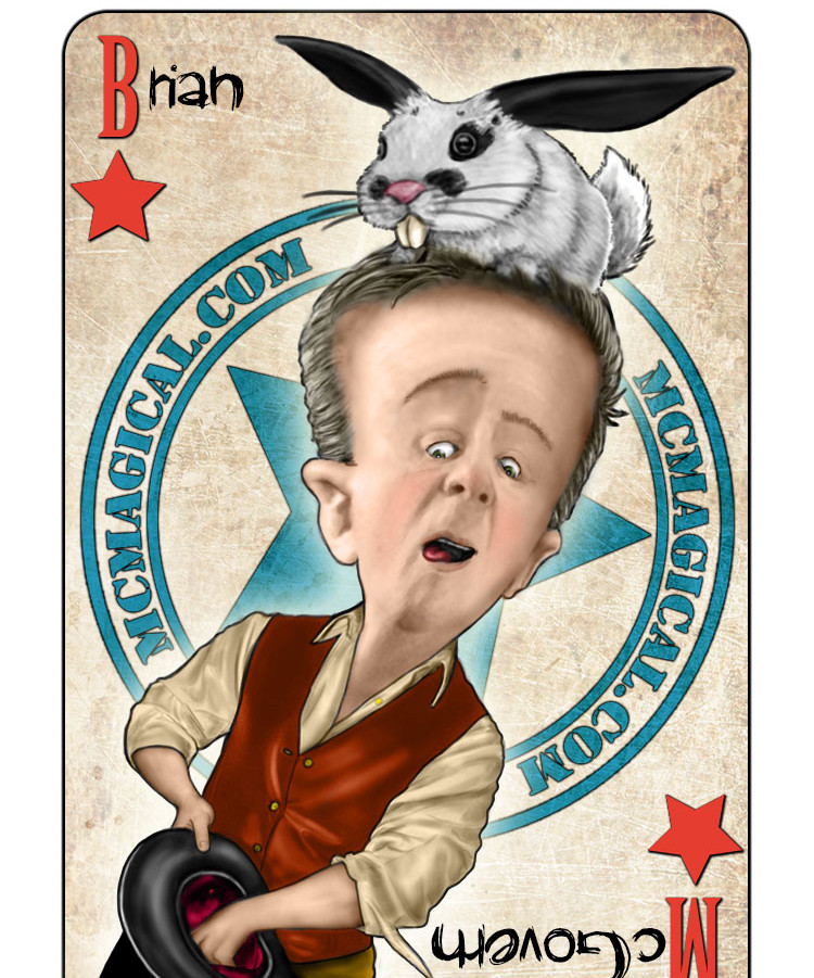 Brian McGovern Magician Playing Card