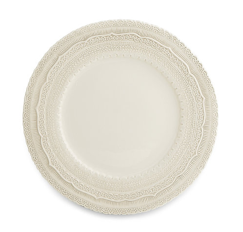 Elderflower Lace Ivory Charger Plate