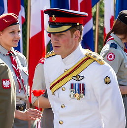 H.R.H. Prince Harry attends the memorial service at Monte Cassino