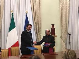 """Intesa (""""Treaty"""") with the Republic of Italy"""