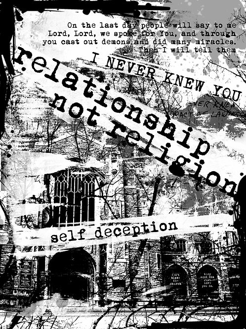 Relationship Not Religion (Print)