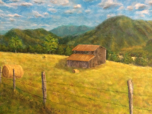 copy of Tennessee Farm (Original) Acrylic Painting
