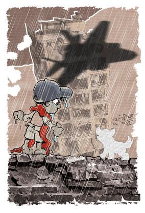 Illustrasjon til boken Jagerfly på vingene