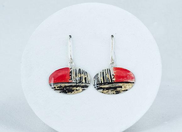 Oval pendant earrings Joan-635