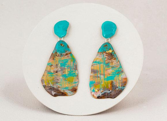 Pendant earrings - Turquoise series Joan-828