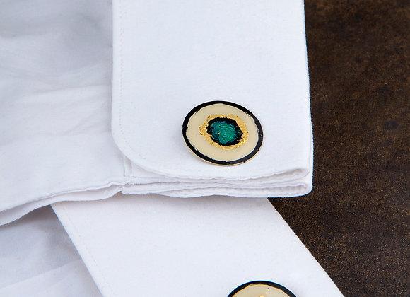 Turquoise Miro cufflinks