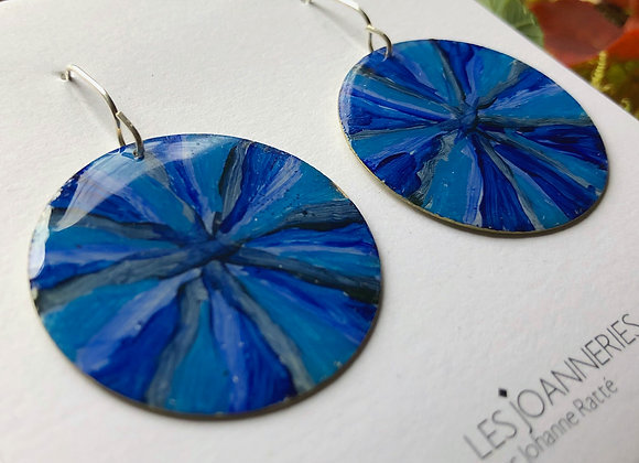 Blue First Nation earrings - Joan-527