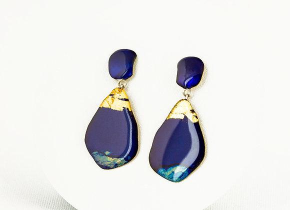 Blue pendant earrings Joan-69