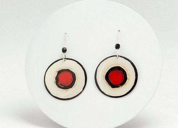 Round pendant earrings -Joan-Miro-R-G