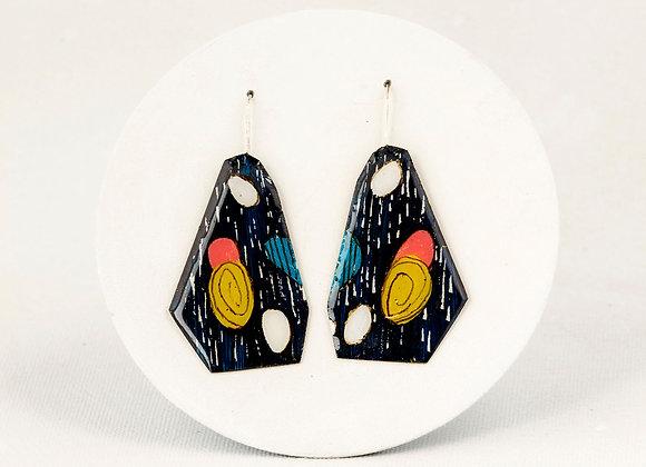 Boucles noires anguleuses- Joan-732