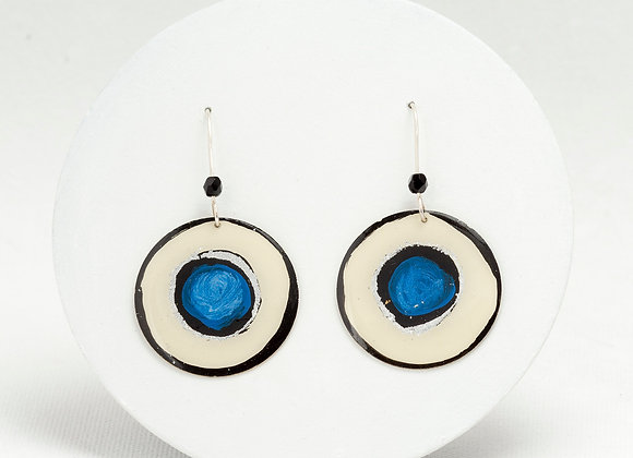 Round pendant earrings -Joan-M-M-B