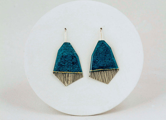 Turquoise pendant earrings -Joan-814