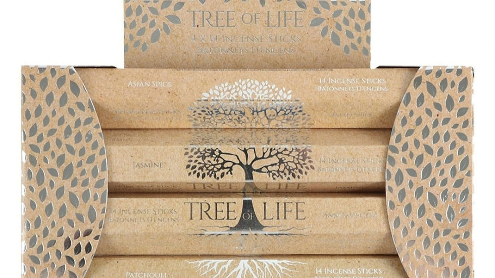 Tree of life incense stick gift set