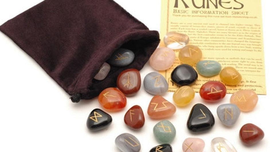 Natural mixed crystal runes