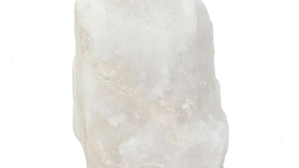 White usb colour changing salt lamp