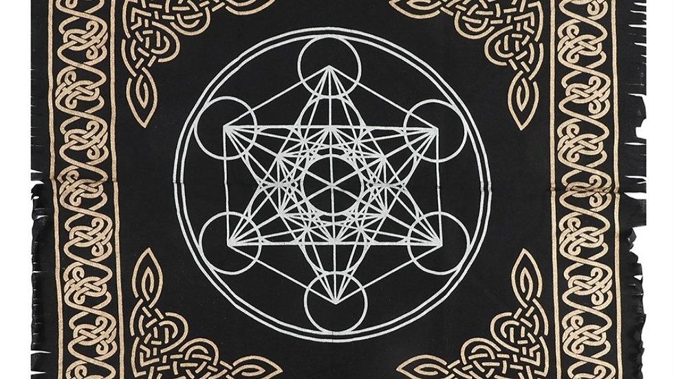 Crystal grid altar cloth