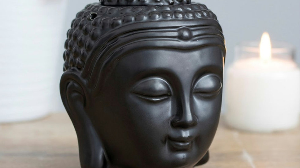 Black Buddha head oil burner