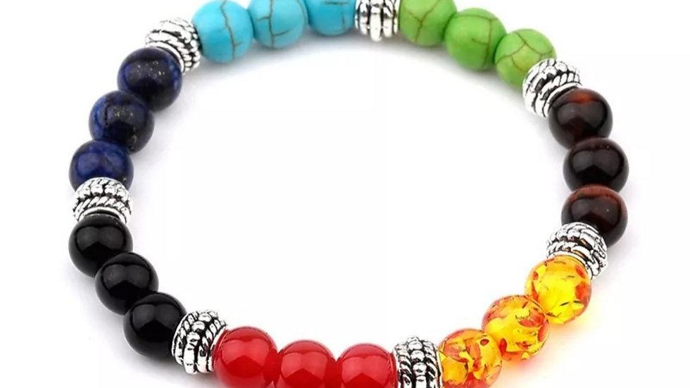 Handmade chakra beaded bracelet