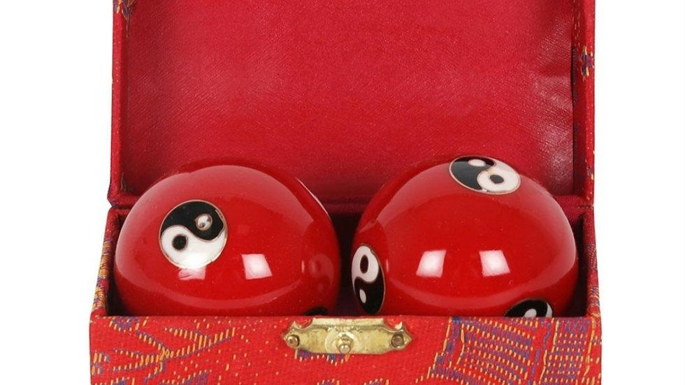 Red metal stress balls