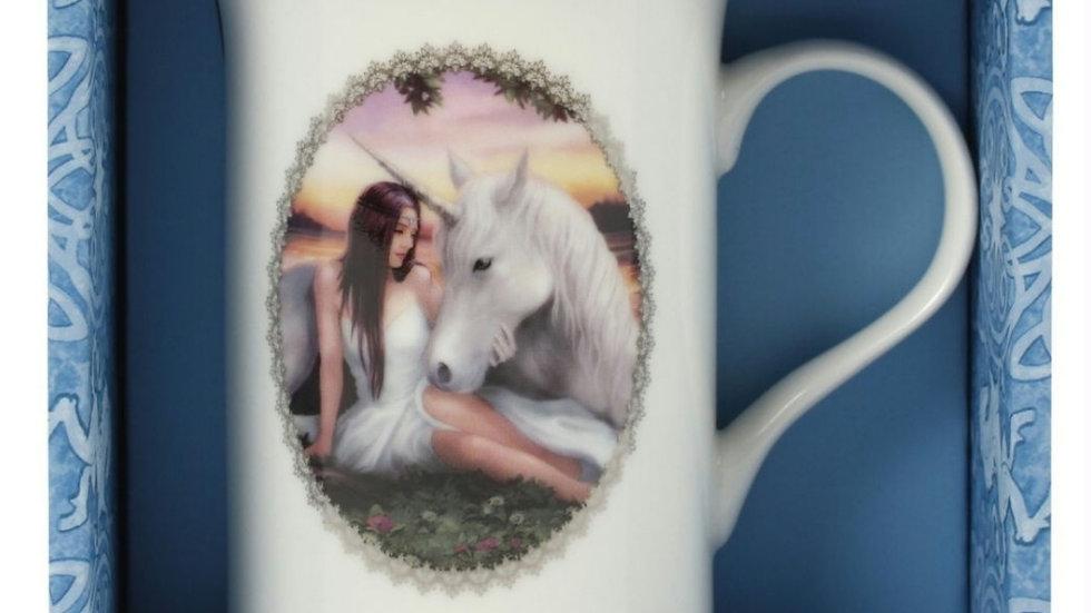 Pure heart bone china mug