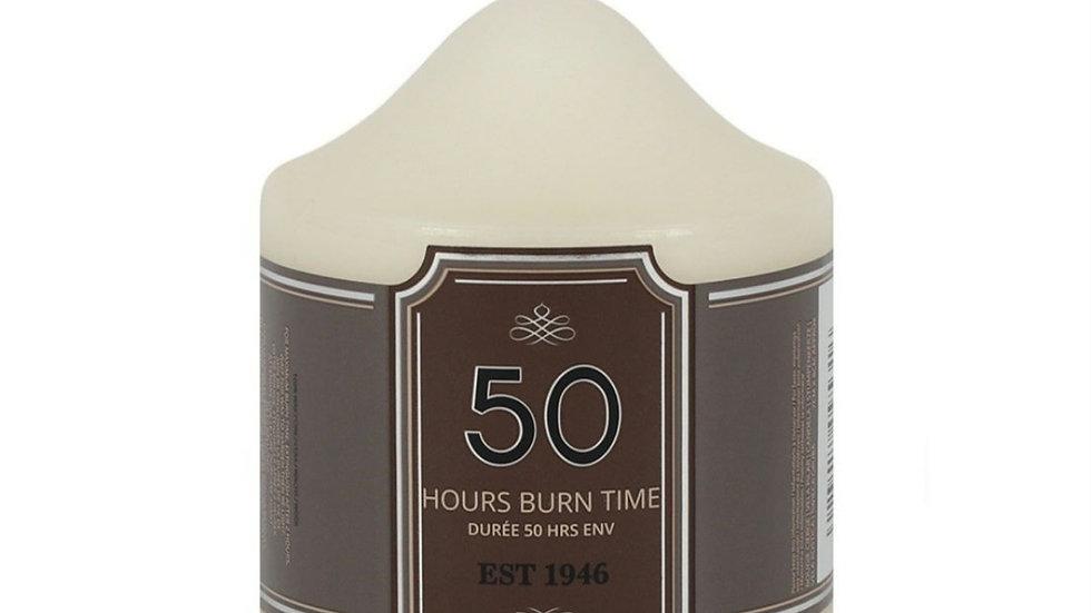 50 hour burn pillar candle