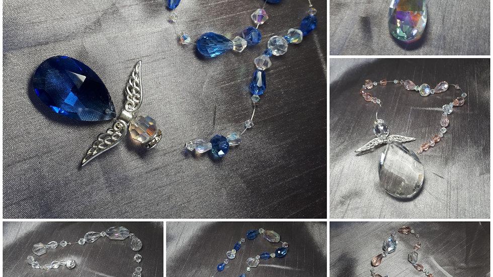 Handmade glass angel suncatchers