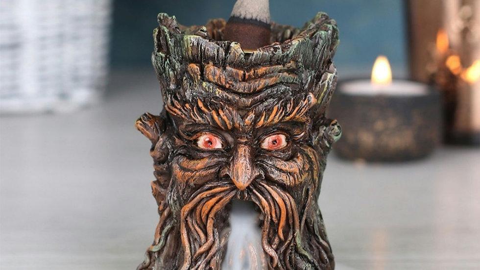 Small green man backflow incense burner
