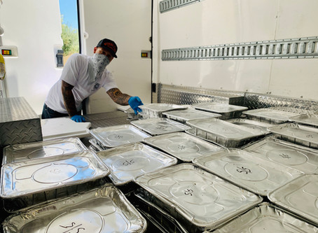 Distributing 1200 meals this week!