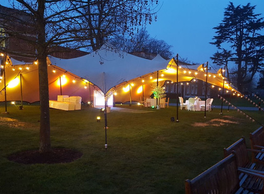 The impact of lighting your stretch tent