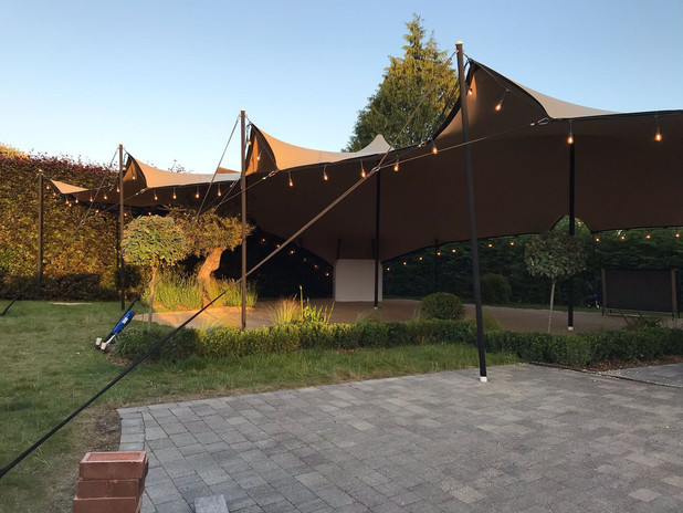 Teepee stretch tent hire.