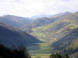 Vista del valle del Cubia