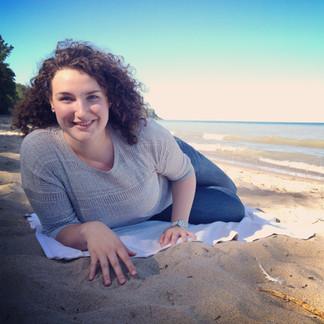 Sister on a Beach.JPG
