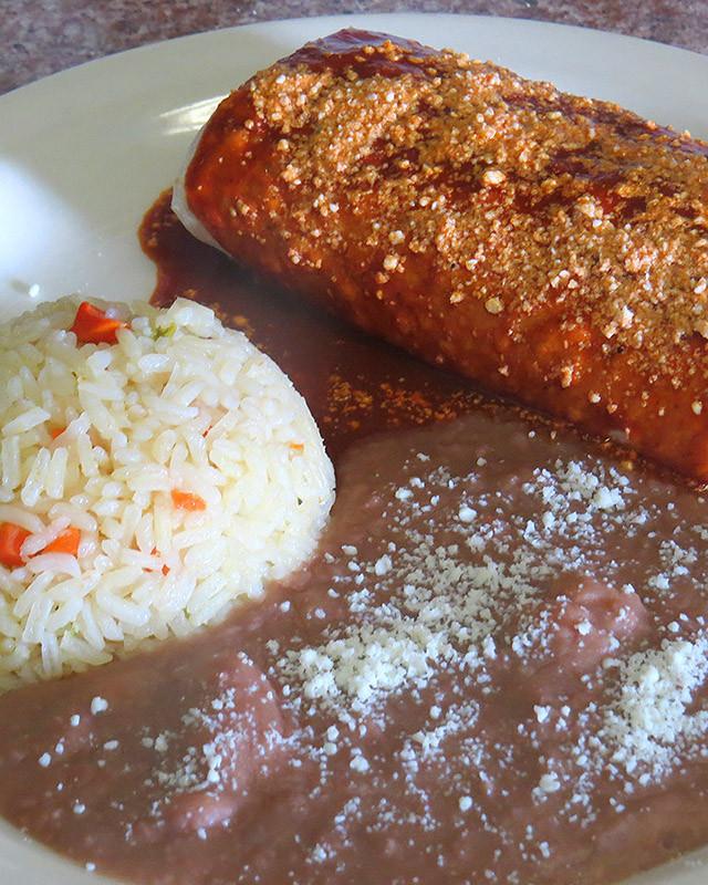 Lunch Burrito Mojado