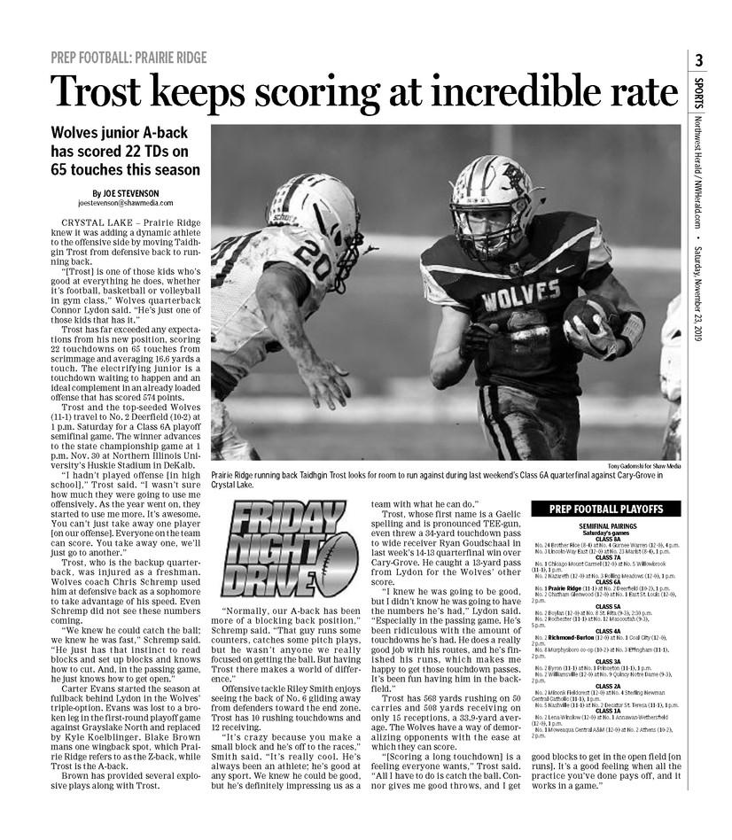 Northwest Herald (IL) - 23 November 2019