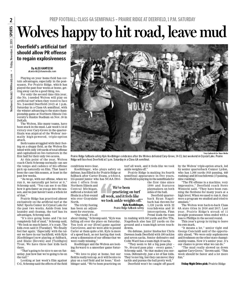 Northwest Herald (IL) - 21 November 2019