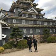 Com Frederico Heliodoro no Castelo de Okayama