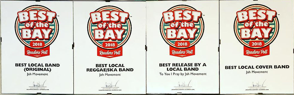 Jah Movement Best of the Bay 2019 Winner 4 Awards