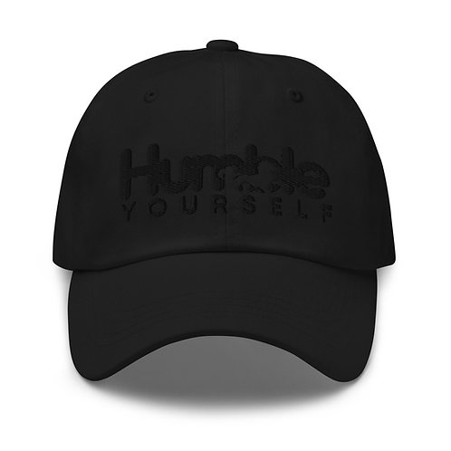 Humble Yourself Black on Black Dad hat