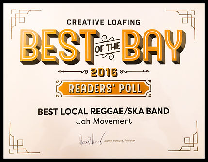 Jah Movement Best of the Bay 2016 Award